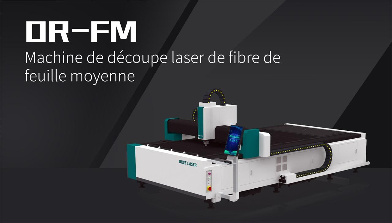 Machine de découpe laser de fibre de feuille moyenne