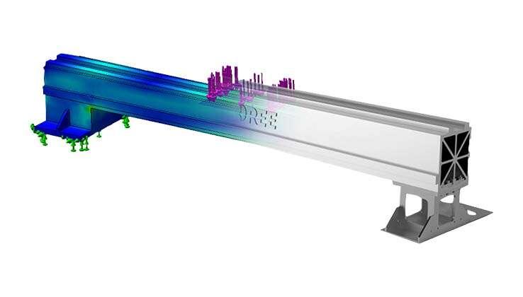 La poutre en alliage d'aluminium pour l'aviation de cinquième génération